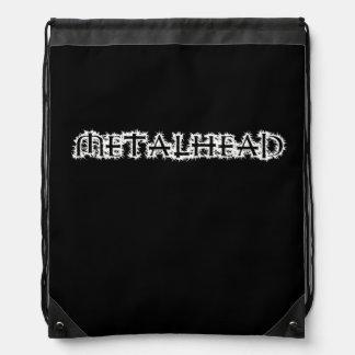 Metalhead Drawstring Backpack