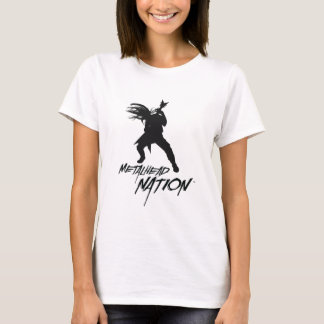 Metalhead Nation Logo Baby Doll WHITE T-Shirt