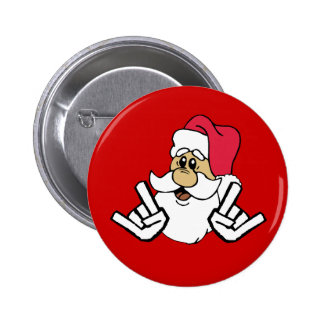 Metalhead Santa Button