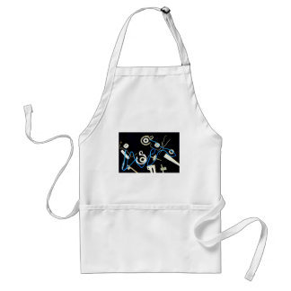metalic abstract lateral canvas designs adult apron