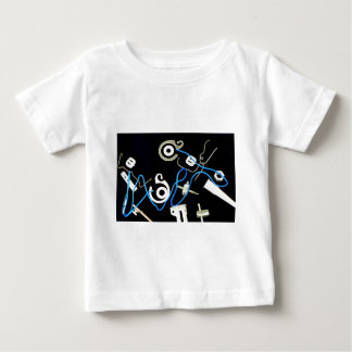 metalic abstract lateral canvas designs baby T-Shirt