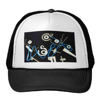 metalic abstract lateral canvas designs trucker hat