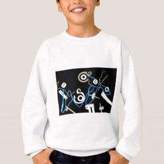 metalic abstract lateral canvas designs sweatshirt