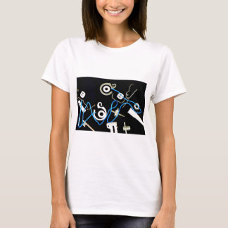 metalic abstract lateral canvas designs T-Shirt