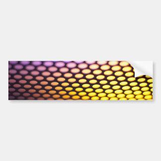 Metalic backlit shinny background bumper sticker