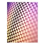 Metalic backlit shinny background postcard