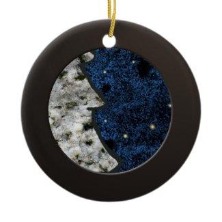 Metalic Black Circle and Colored Granite