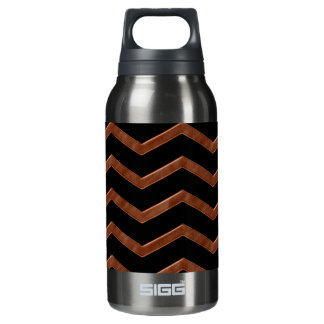 Metalic Bronze Zig Zag Pattern Insulated Water Bottle