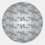 metalic digital arrow classic round sticker