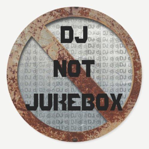 Metalic DJ not jukebox sticker