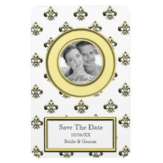 Metalic Fleur de lis (Gold) (Save The Date) Magnet
