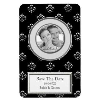 Metalic Fleur de lis (Silver) (Save The Date) Magnet
