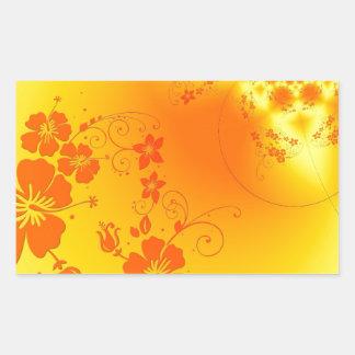 Metalic Floral Background Rectangular Sticker