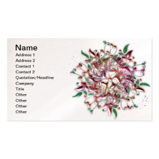 Metalic Floral Business Card
