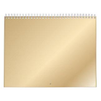 metalic gradient calendar