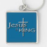 Metalic Jesus is KING Keychain