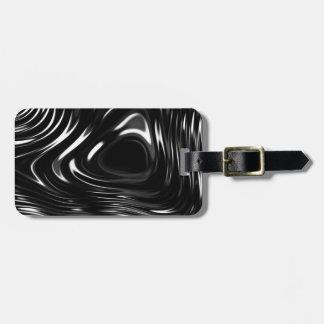 Metalic Liquid in Black and White Bag Tag