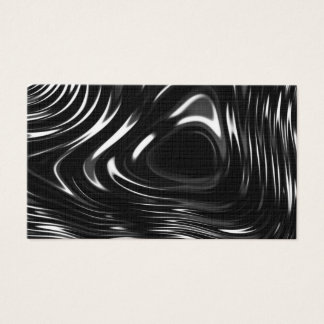 Metalic Liquid in Black and White Business Card