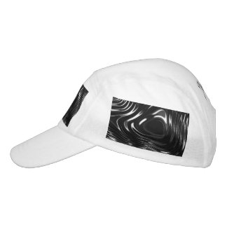 Metalic Liquid in Black and White Hat