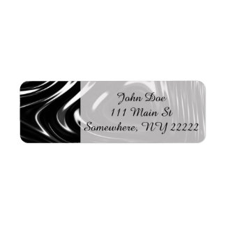 Metalic Liquid in Black and White Label