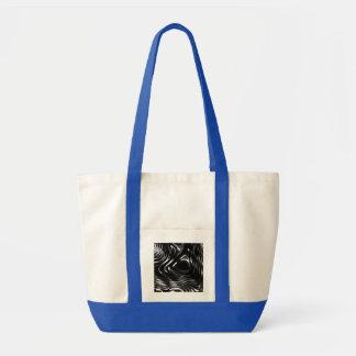 Metalic Liquid in Black and White Tote Bag