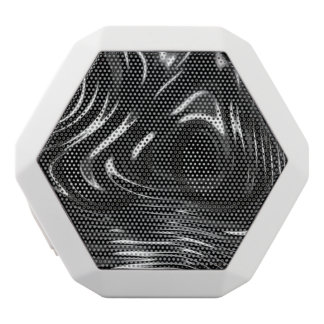 Metalic Liquid in Black and White White Bluetooth Speaker