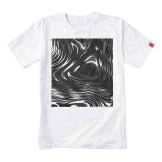 Metalic Liquid in Black and White Zazzle HEART T-Shirt