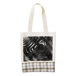 Metalic Liquid in Black and White Zazzle HEART Tote Bag