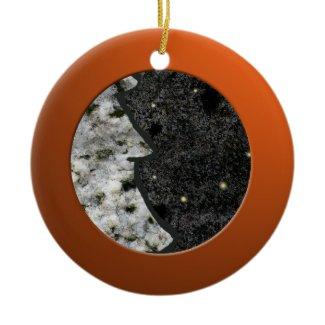 Metalic Orange Circle and Granite Rock