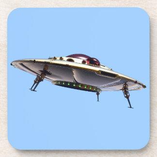 Metalic UFO Cork Coaster