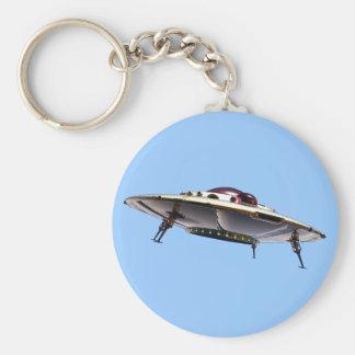 Metalic UFO Keychain