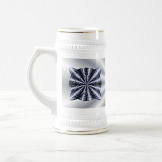 Metálico azul del nudo céltico jarra de cerveza