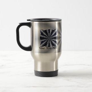 Metálico azul del nudo céltico taza de viaje de acero inoxidable