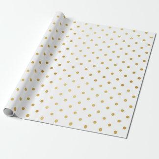 Metálico blanco del día de fiesta moderno de los papel de regalo