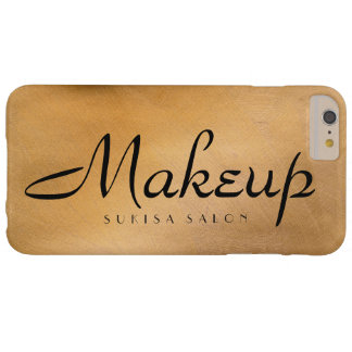 Metálico de cobre del maquillaje funda para iPhone 6 plus barely there