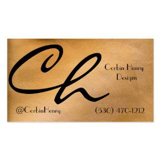Metálico de cobre plantilla de tarjeta personal