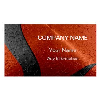 Metálico de lujo negro y anaranjado tarjeta de visita