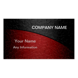 Metálico de lujo rojo y negro tarjeta personal