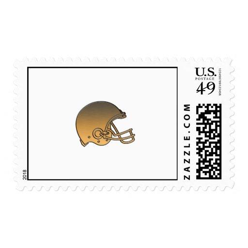 metálico de oro del casco de fútbol americano envio