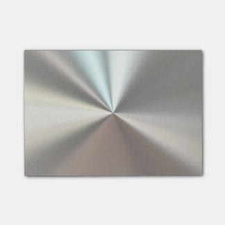 Metálico de plata notas post-it®