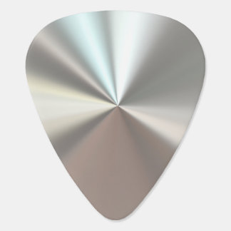 Metálico de plata plumilla de guitarra