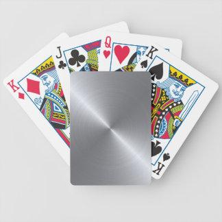Metálico pulida del acero inoxidable barajas de cartas