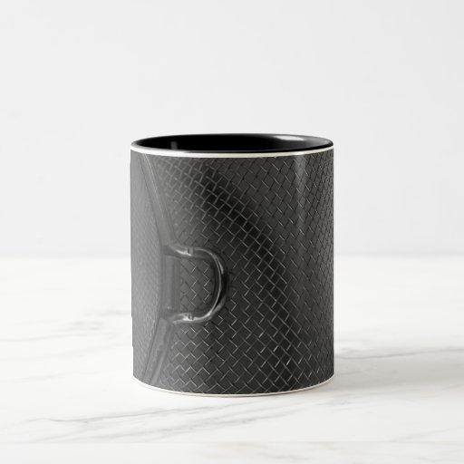 Metall blanco del colador de la cocina del negro m tazas