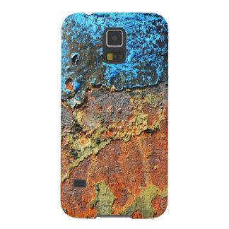 Metall texturizado moho fundas de galaxy s5