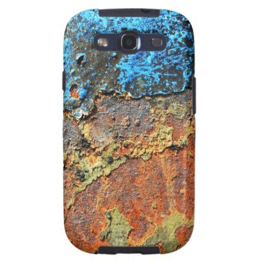 Metall texturizado moho galaxy SIII cárcasas