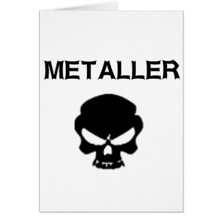 Metaller Tarjeta De Felicitación