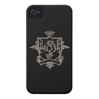 Metalli crest on color  background Iphone 4 case
