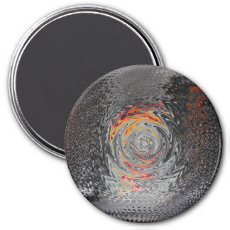 Metallic 3 Inch Round Magnet