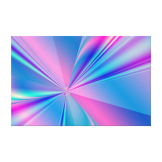 Metallic abstract fractal design gallery wrapped canvas