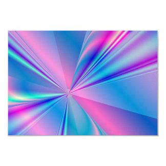 Metallic abstract fractal design invite